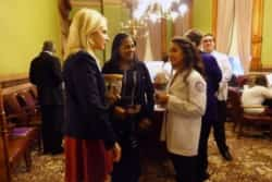 President Franklin with students at the Iowa State Capitol